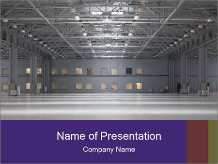 Empty storehouse PowerPoint Templates