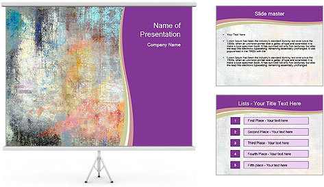 Color grunge PowerPoint Template