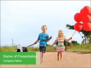 Red balloons Modèles des présentations  PowerPoint