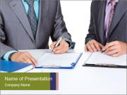 Two business people PowerPoint Templates