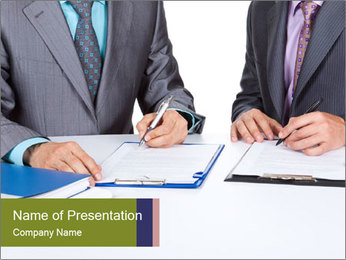 Two business people PowerPoint Templates - Slide 1