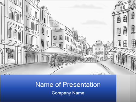 Old town powerpoint template backgrounds id 0000092100 old town powerpoint template toneelgroepblik Choice Image