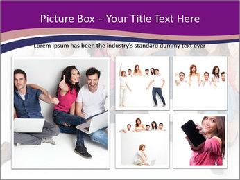 Young group happy PowerPoint Template - Slide 19