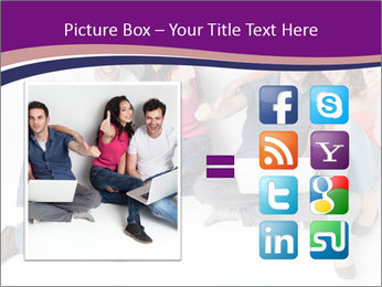 Young group happy PowerPoint Template - Slide 21