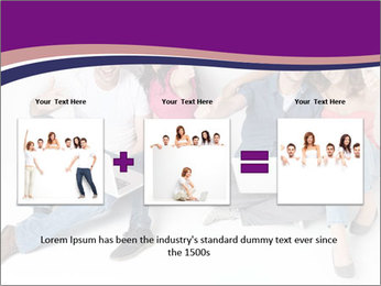 Young group happy PowerPoint Template - Slide 22