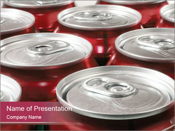 Soda pop cans PowerPoint Template - Slide 1