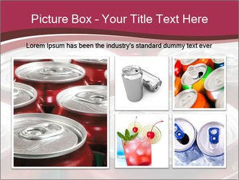 Soda pop cans PowerPoint Template - Slide 19