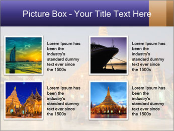 Twilight over Swedagon PowerPoint Template - Slide 14