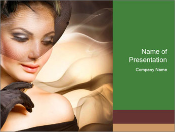 Luxury Woman PowerPoint Template - Slide 1