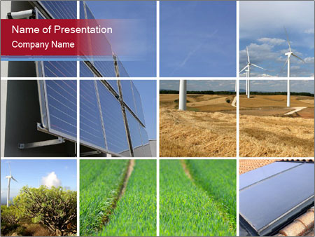 Collage of energy PowerPoint Template