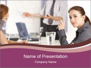 Attractive female PowerPoint Template