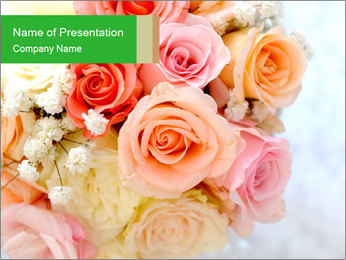 Wedding bouquet PowerPoint Templates - Slide 1