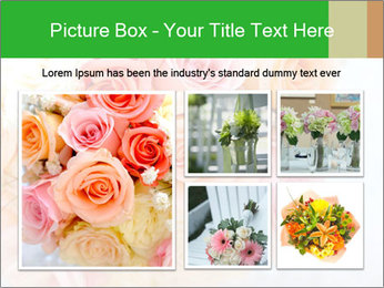 Wedding bouquet PowerPoint Templates - Slide 19