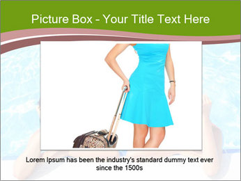 Two girlfriends in a swimming pool PowerPoint Template - Slide 15