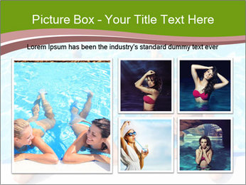 Two girlfriends in a swimming pool PowerPoint Template - Slide 19