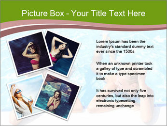 Two girlfriends in a swimming pool PowerPoint Template - Slide 23