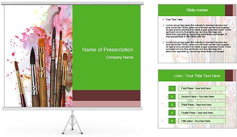 Watercolor palette PowerPoint Template