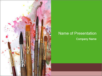 Watercolor palette PowerPoint Template - Slide 1
