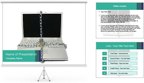 Laptop data PowerPoint Template