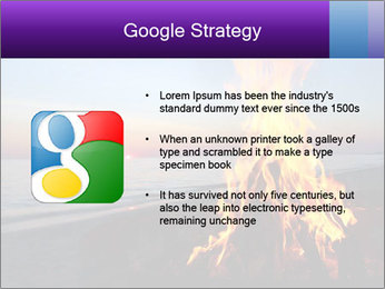 Campfire at sunset PowerPoint Templates - Slide 10
