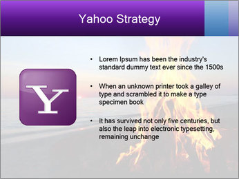 Campfire at sunset PowerPoint Template - Slide 11