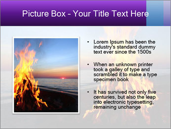 Campfire at sunset PowerPoint Template - Slide 13