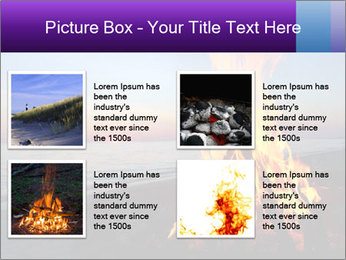 Campfire at sunset PowerPoint Template - Slide 14