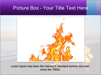Campfire at sunset PowerPoint Template - Slide 15