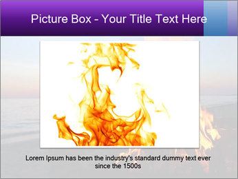 Campfire at sunset PowerPoint Template - Slide 16