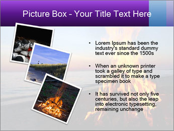 Campfire at sunset PowerPoint Template - Slide 17