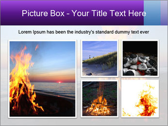Campfire at sunset PowerPoint Template - Slide 19