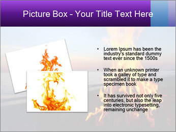 Campfire at sunset PowerPoint Template - Slide 20