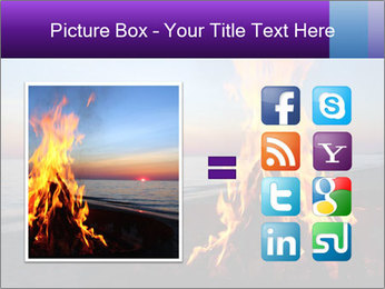 Campfire at sunset PowerPoint Template - Slide 21