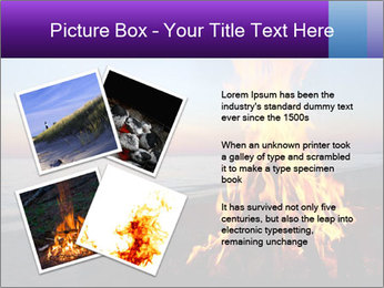 Campfire at sunset PowerPoint Template - Slide 23