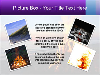 Campfire at sunset PowerPoint Templates - Slide 24