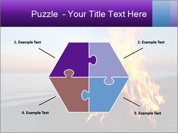 Campfire at sunset PowerPoint Templates - Slide 40