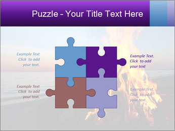Campfire at sunset PowerPoint Templates - Slide 43