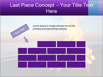 Campfire at sunset PowerPoint Template - Slide 46