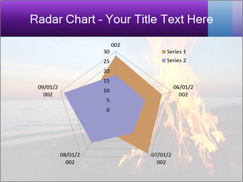 Campfire at sunset PowerPoint Template - Slide 51