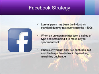Campfire at sunset PowerPoint Template - Slide 6
