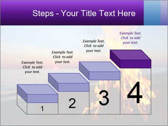 Campfire at sunset PowerPoint Template - Slide 64