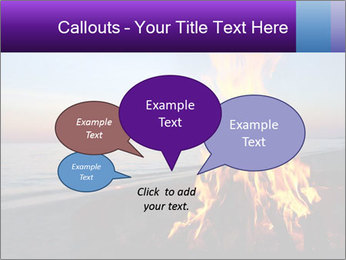 Campfire at sunset PowerPoint Templates - Slide 73
