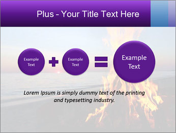 Campfire at sunset PowerPoint Templates - Slide 75