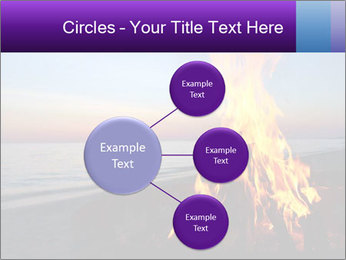 Campfire at sunset PowerPoint Templates - Slide 79