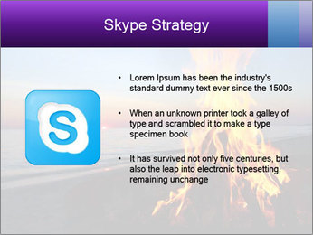 Campfire at sunset PowerPoint Templates - Slide 8