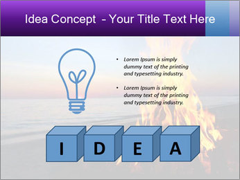 Campfire at sunset PowerPoint Template - Slide 80