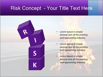 Campfire at sunset PowerPoint Template - Slide 81