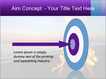 Campfire at sunset PowerPoint Template - Slide 83