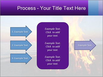 Campfire at sunset PowerPoint Template - Slide 85