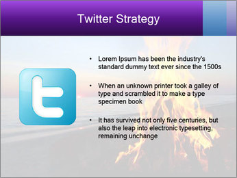 Campfire at sunset PowerPoint Templates - Slide 9